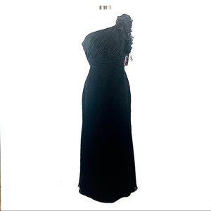 NWT Camille Le Vie black gown dress 8